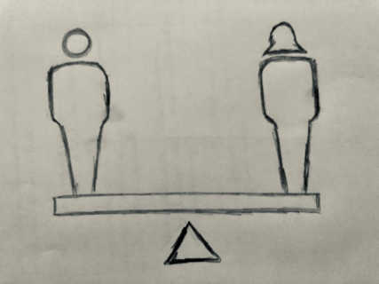 Symbol: Gleichberechtigung zwischen Mann und Frau
